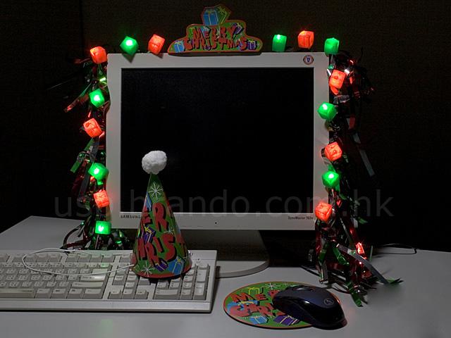 Как сделать новогодний компьютер