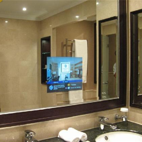 Led screens electric mirror tv behind mirror glass eb for Tv ecran plat miroir